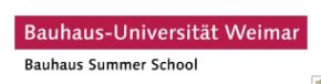 Summer School at Bauhaus University Weimar