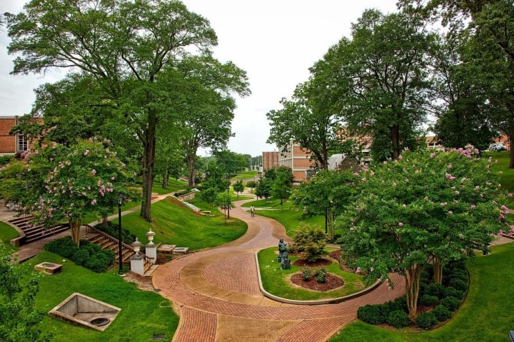 university of north alabama, florence, landscape