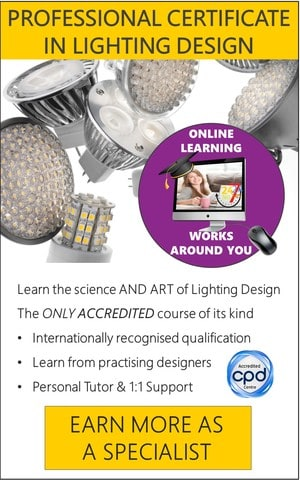 Lighting Design - Accredited Certificate Course (Online)