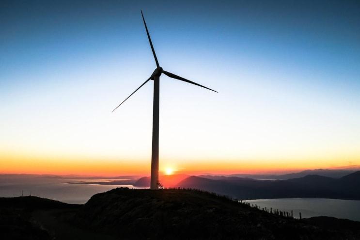 sunset below Patras windmill
