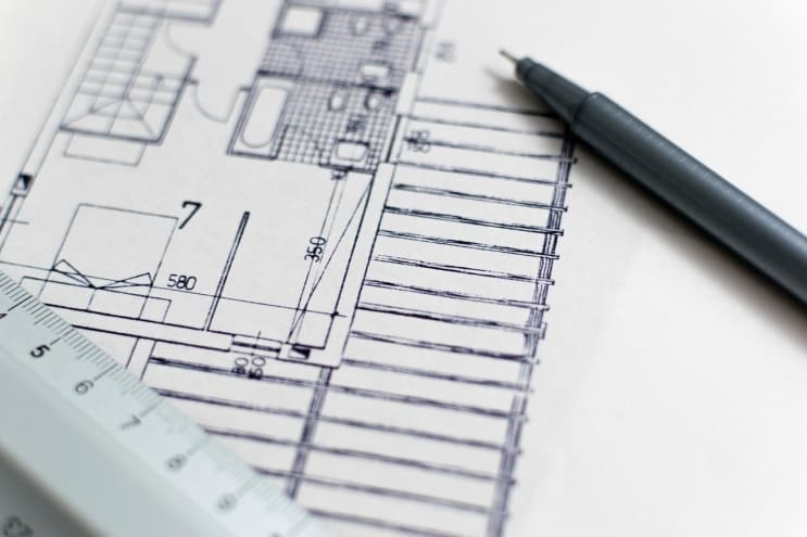 architecture, blueprint, floor plan