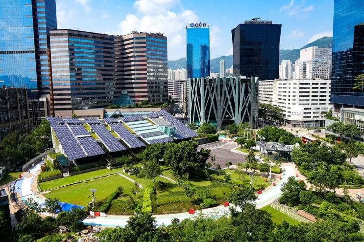 solar, panel, city