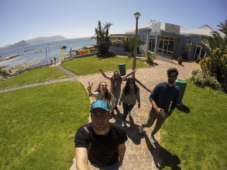 Students enjoying Cape Town