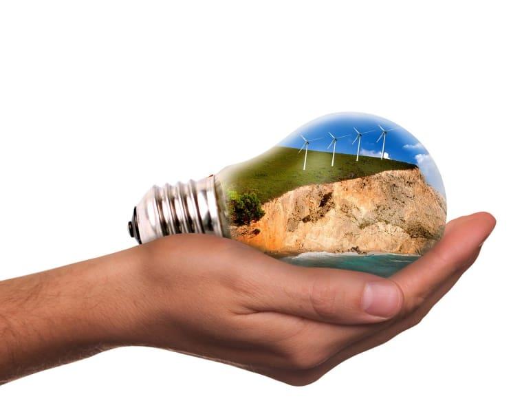 light bulb, pinwheel, energy revolution