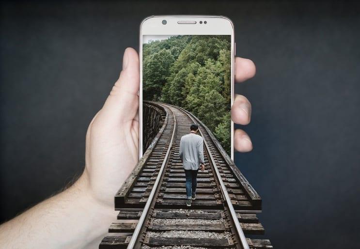 manipulation smartphone, gleise, run