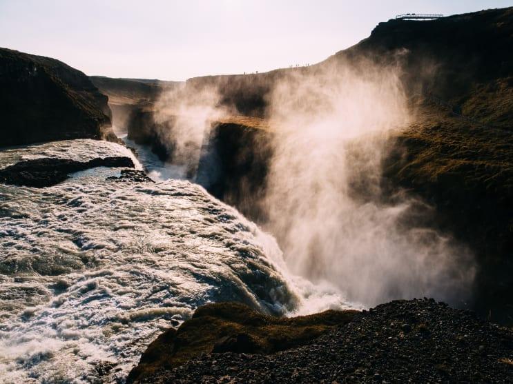 Steamy waterfall