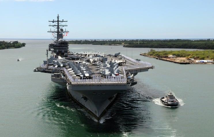 aircraft carrier, ship, naval