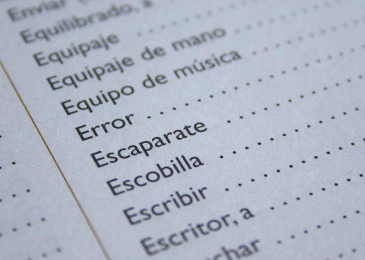 spanish, language, error