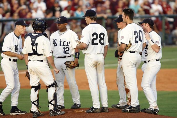 baseball, team, meeting on mound