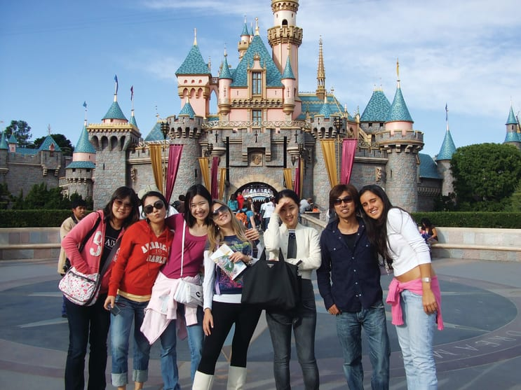 English students at Disneyland, California