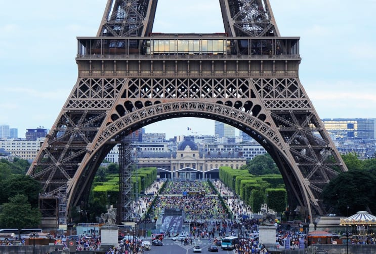 eiffel tower, arch, tourism