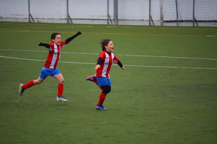 Celebrating a goal