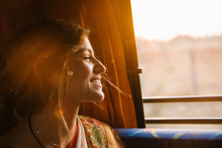 Smiling On The Bus