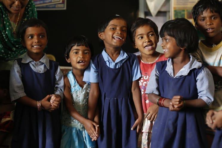 children, india, education