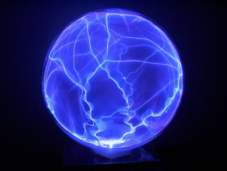 plasma, globe, glass