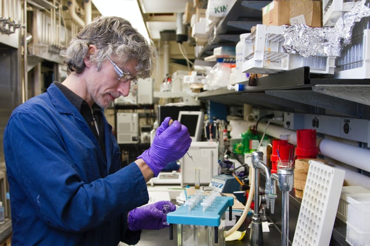 The National Cancer Institute's Natural Products Branch at the Frederick National Laboratory for Cancer Research is the largest program to collect materials worldwide from marine, plant, and microbial sources so they may be studied for possible medical uses.