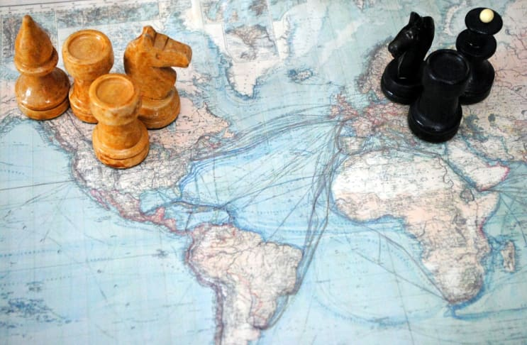 chess, world map, action figures