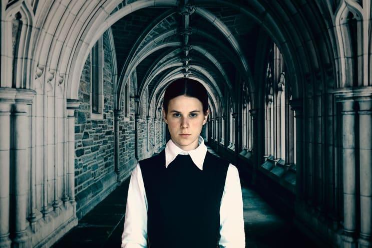 person, castle, hallway