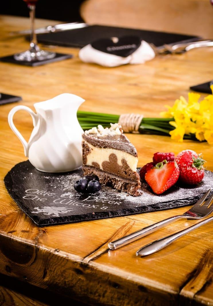 desert, slate, pudding