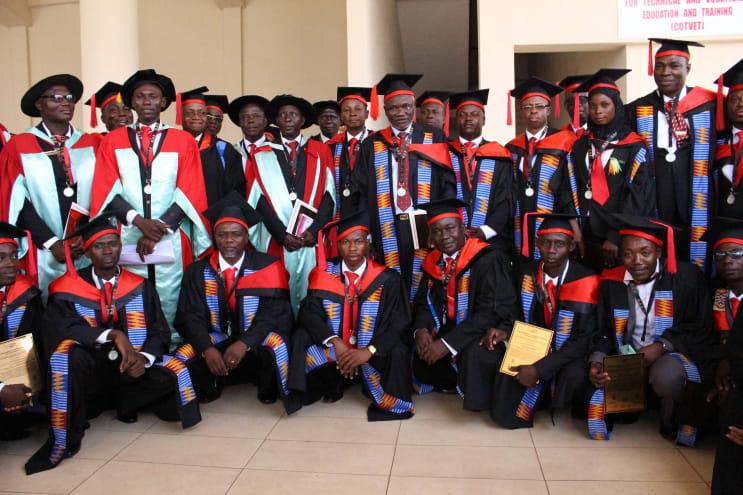 Students graduating in Ghana
