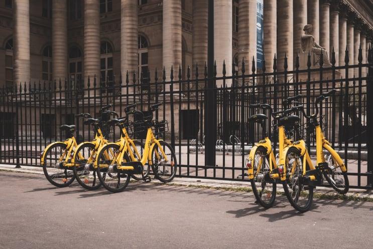 Ofo's bikes in Paris