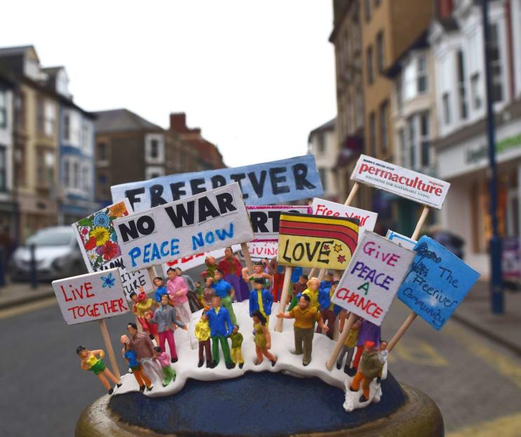 protest, models, art