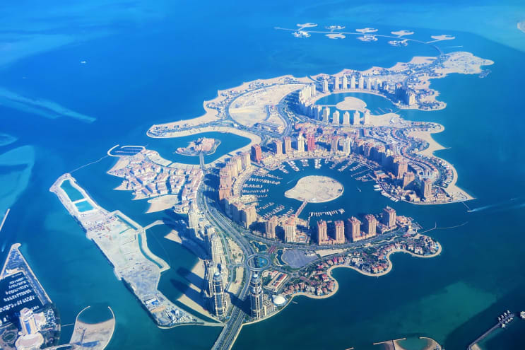 artificial islands, qatar, doha