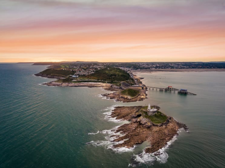 6436-Aerial Lighthouse Mumbles [Hi res]