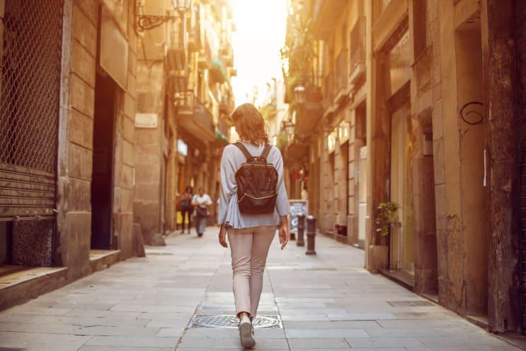 International student in Barcelona