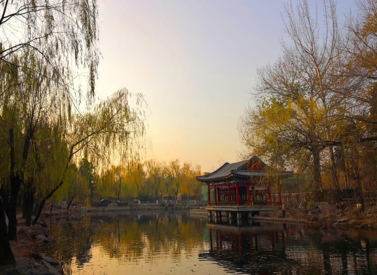 Lake at Tsinghua University, Beijing, China