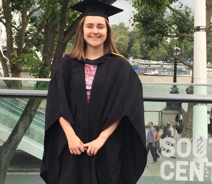 English literature graduate in the UK