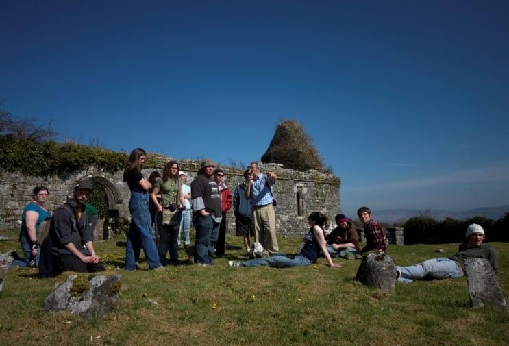 Irish Studies field trip with Gordon D'Arcy