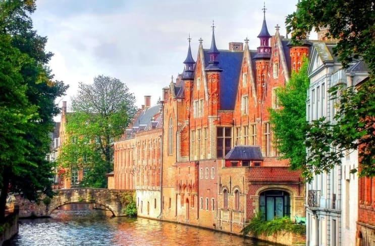 beautiful medieval landmark in the city of Bruges, Belgium