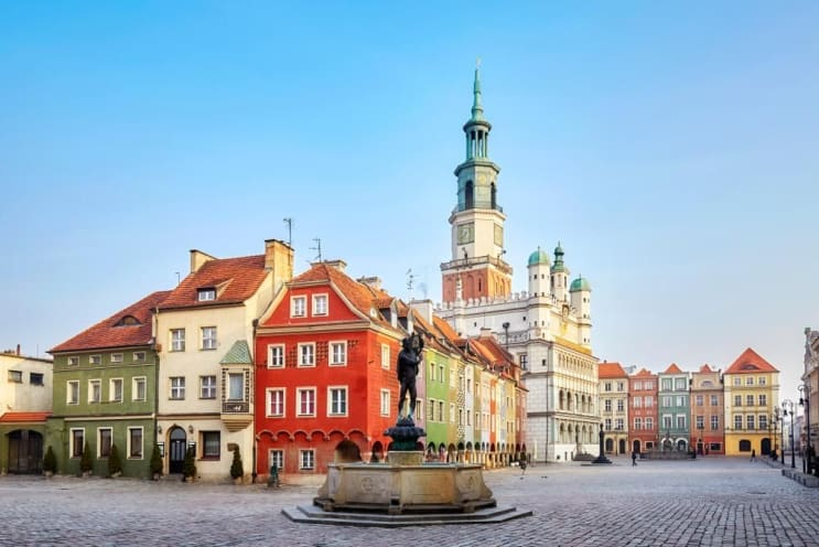 Main Square in the Poznan Old Town, Poland.